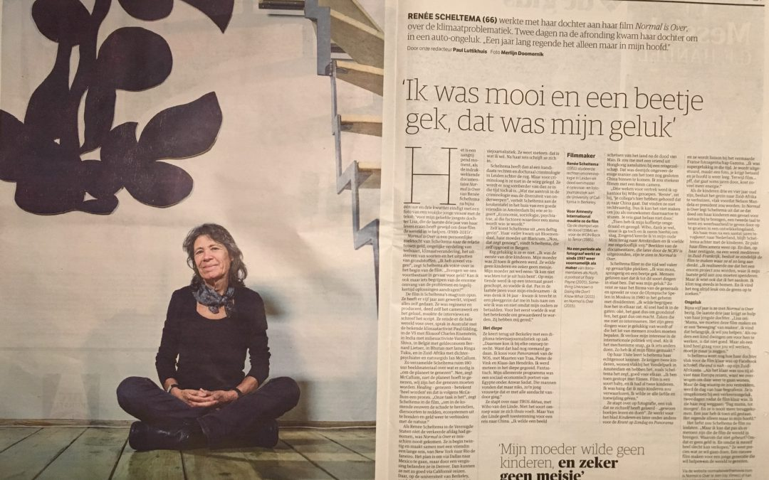 Normal is Over in NRC Newspaper, news about MakingofTheFuture foundation